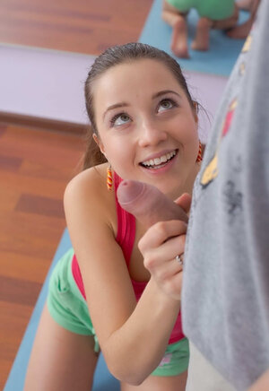 Sensual young and fresh female moans so loud that absolutely all the neighbors know that she is banging