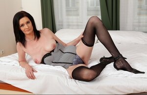 Old brunette lady Laura Dark for the number one time takes BBC in the tooshie