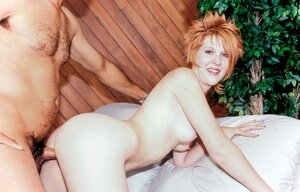 Whores with red hair and brunette receive pleasure from strapons and love tool