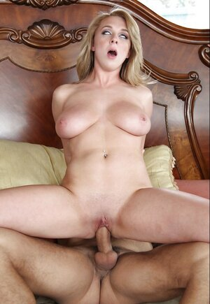 Blonde with a fantastic body has passionate sex and moreover receives cum on her chest