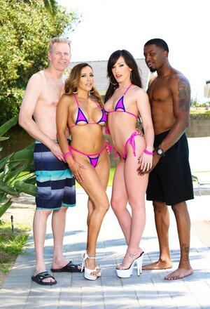 Girlfriends Francesca Le and plus Jennifer White revealed black and plus white lovers